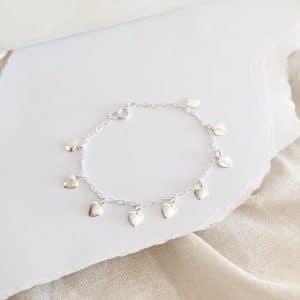 Pulsera Corazones Silver