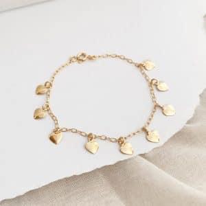 Pulsera Corazones Gold